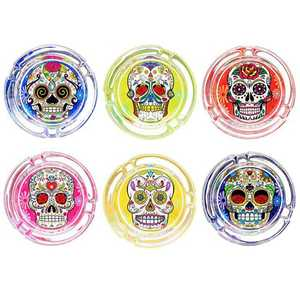 ATOMIC GLASS ASHTRAY LA CATRINA (X6)