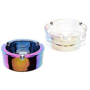 ATOMIC GLASS ASHTRAY RAINBOW & PEARL (X6)
