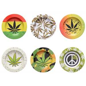 ATOMIC METAL ASHTRAY CANNABIS (X6)