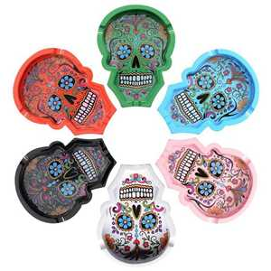 ATOMIC POLYRESIN ASHTRAY LA CATRINA (X6)
