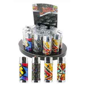 BELFLAM PIEZO LIGHTERS POP ART (X15)
