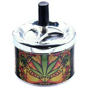 BELFLAM SPINNING ASHTRAY BUDDAH LEAF