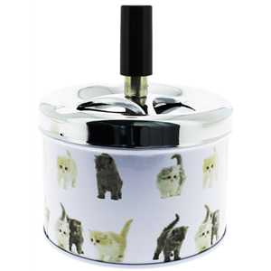 BELFLAM SPINNING ASHTRAY KITTIES