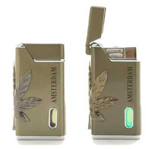 BELFLAM TURBO GUN LIGHTER + AMSTERDAM & LEAF (X24)