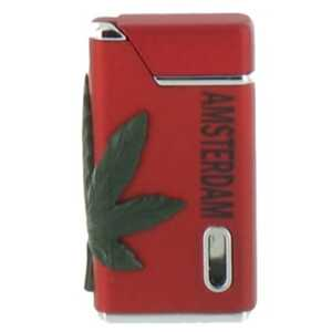 BELFLAM TURBO RED & BLACK LIGHTER AMSTERDAM & LEAF (X24)