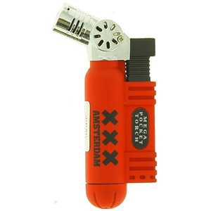 BELFLAM TURBO RED RUBBER LIGHTER AMSTERDAM & XXX (X20)