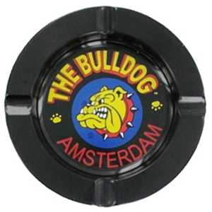 BULLDOG BLACK METAL ASHTRAY