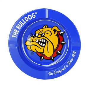BULLDOG BLUE METAL ORIGINAL ASHTRAY