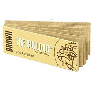 BULLDOG FILTERS TIPS BROWN 50-PACK