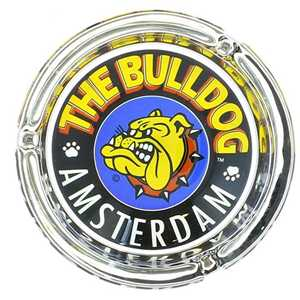 BULLDOG GLASS ASHTRAY FULL COLORS