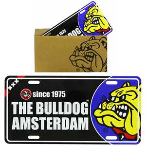 BULLDOG LICENSEPLATE BLACK IN PAPER BAG