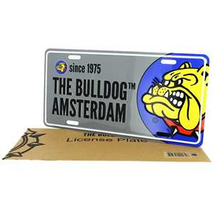 BULLDOG LICENSEPLATE GREY IN PAPER BAG