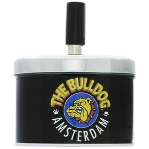 BULLDOG SPINNING ASHTRAY BLACK