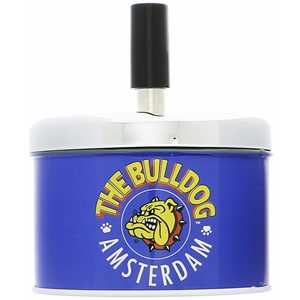 BULLDOG SPINNING ASHTRAY BLUE