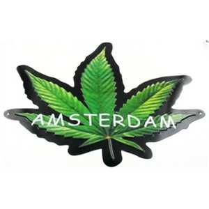LICENSE PLATE SHAPE WEED 30X35cm