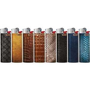 LIGHTERS MAXI BIC J26 LEATHER DESIGNS (X50)