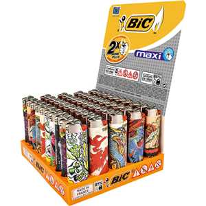 LIGHTERS MAXI BIC J26 TATTOO DESIGNS (X50)