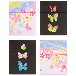 PLASTIC PUSH UP BOX FLOWER & BUTTERFLY (X12)