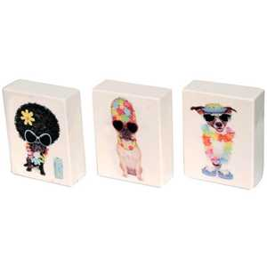 PUSH UP BOX 25' CIG. FLOWERED DOGS DESIGN (x12)