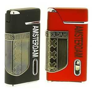 RED & BLACK LIGHTER AMSTERDAM SHIELD (X24)